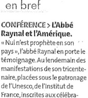 Raynal et l'Am�rique